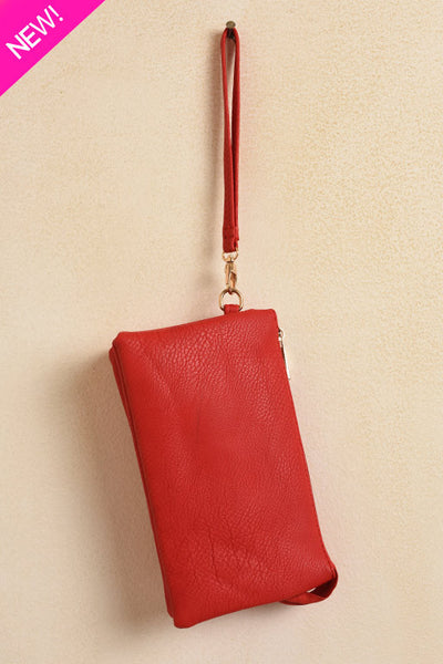 Cherry red clutch