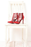 Modern red graphic heel