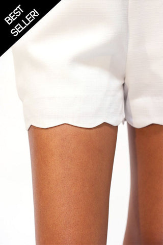 Swift Scallop Hem Tailored Shorts