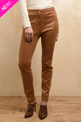 Vegan leather skinny pants