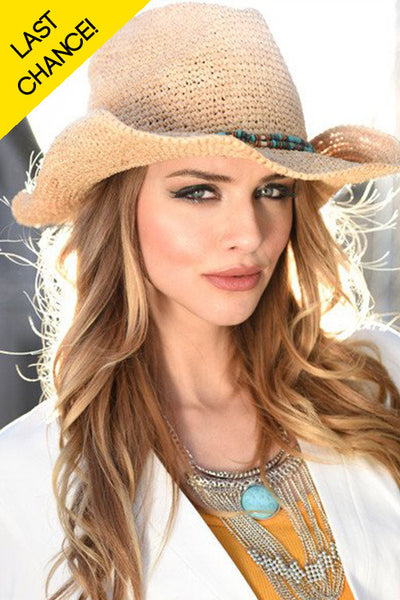 Country Raffia Wide Brim Sun Hat