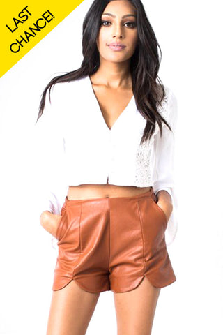 Cheryl Leatherette Shorts