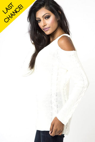 Vienna Open Shoulder Sweater