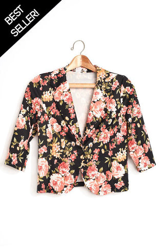 Floral Stretch Blazer
