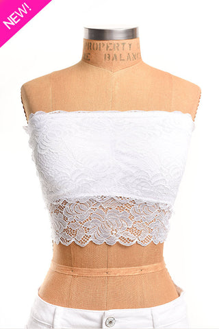 White lace band bra