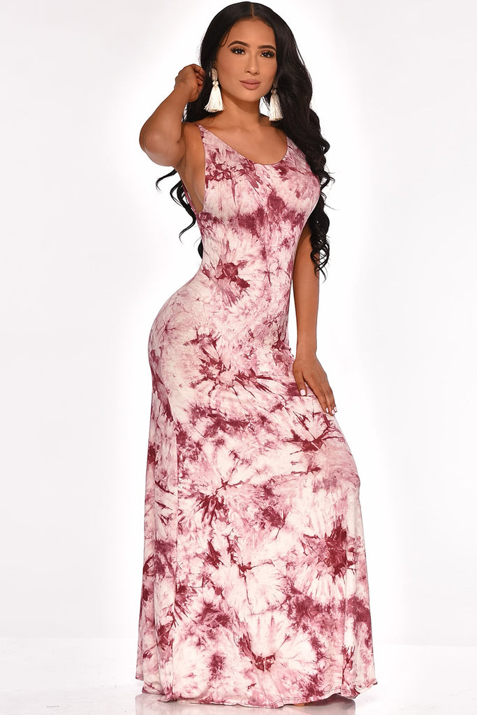 CITY STRUTING MAXI DRESS (BURGUNDY)