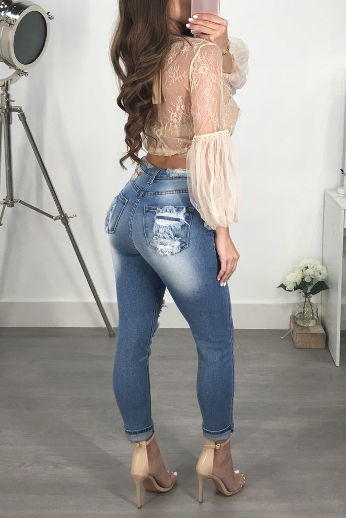 KENNETH HIGH WAIST DENIM
