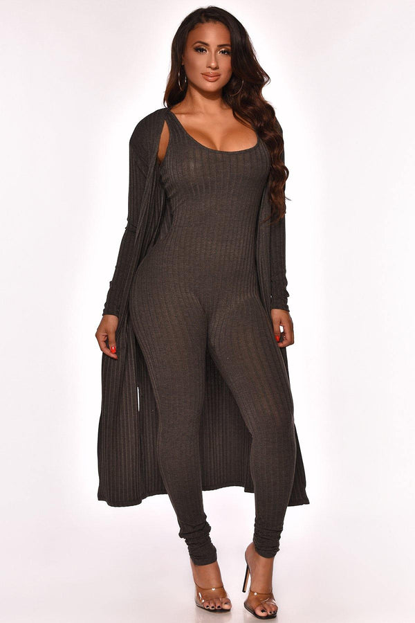 KEEPING IT REAL JUMPSUIT SET