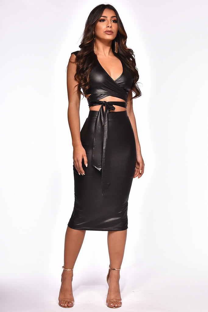 ALL WRAPPED UP SKIRT SET