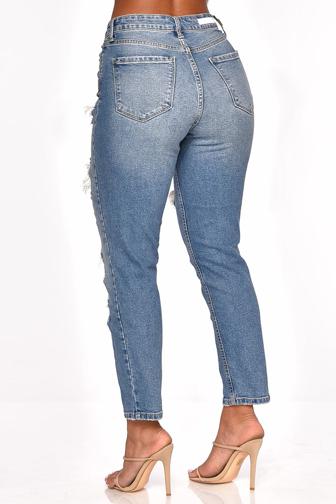 BREAK IT OFF HIGH-RISE DENIM