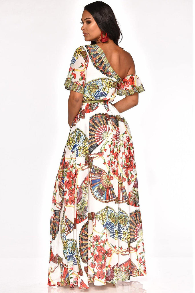 ABSTRACT STATE OF MIND MAXI DRESS