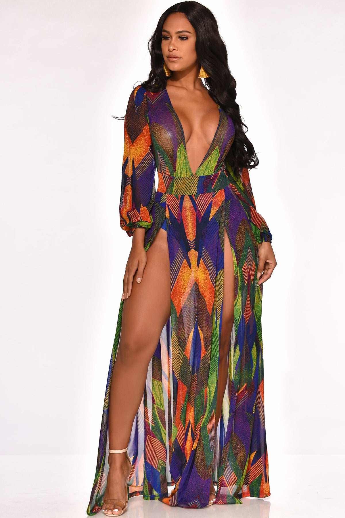 NOW YOU SEE ME MAXI DRESS