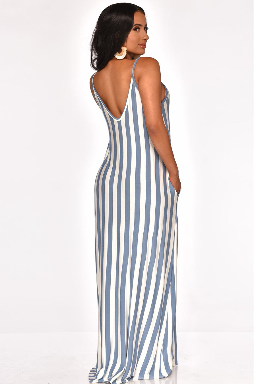 STRAIGHT TO THE POINT MAXI DRESS