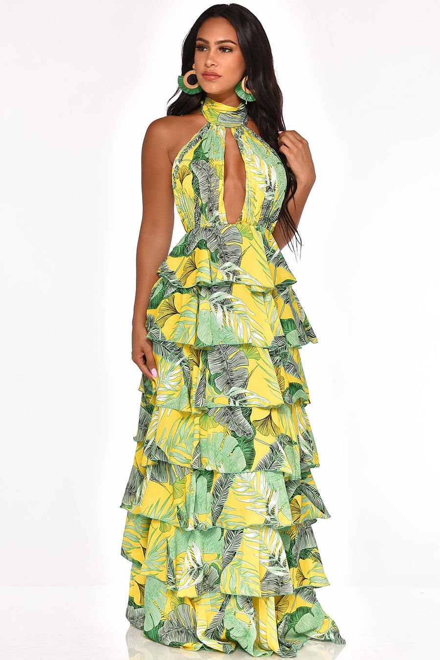 TAKE YOU TO THE TROPICS MAXI DRESS