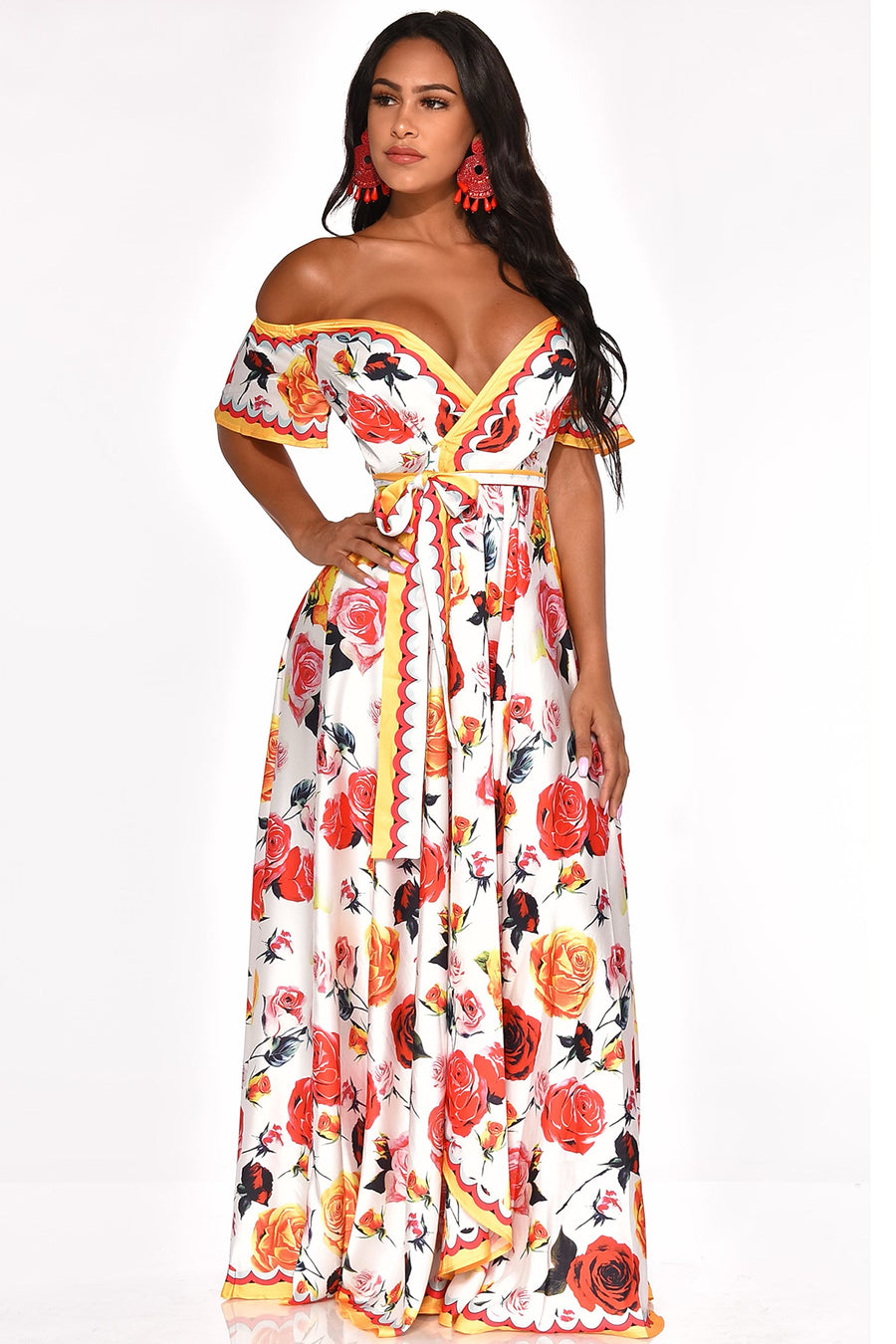 FLOURISHING BEAUTY MAXI DRESS