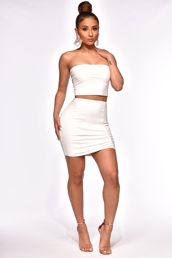CUT 'EM SHORT SKIRT SET