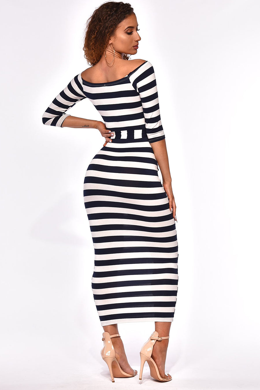 AT EASE MIDI DRESS