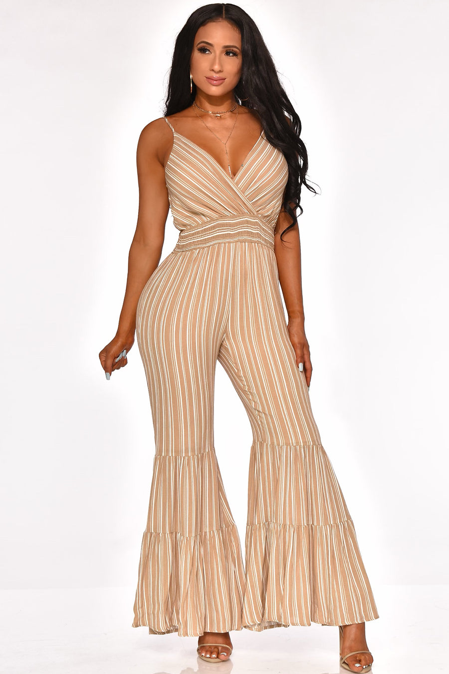TRUTH OR FLARE JUMPSUIT