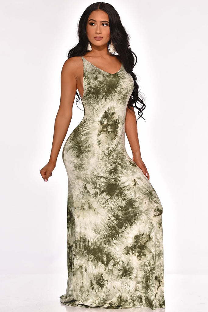 CITY STRUTING MAXI DRESS (GREEN)
