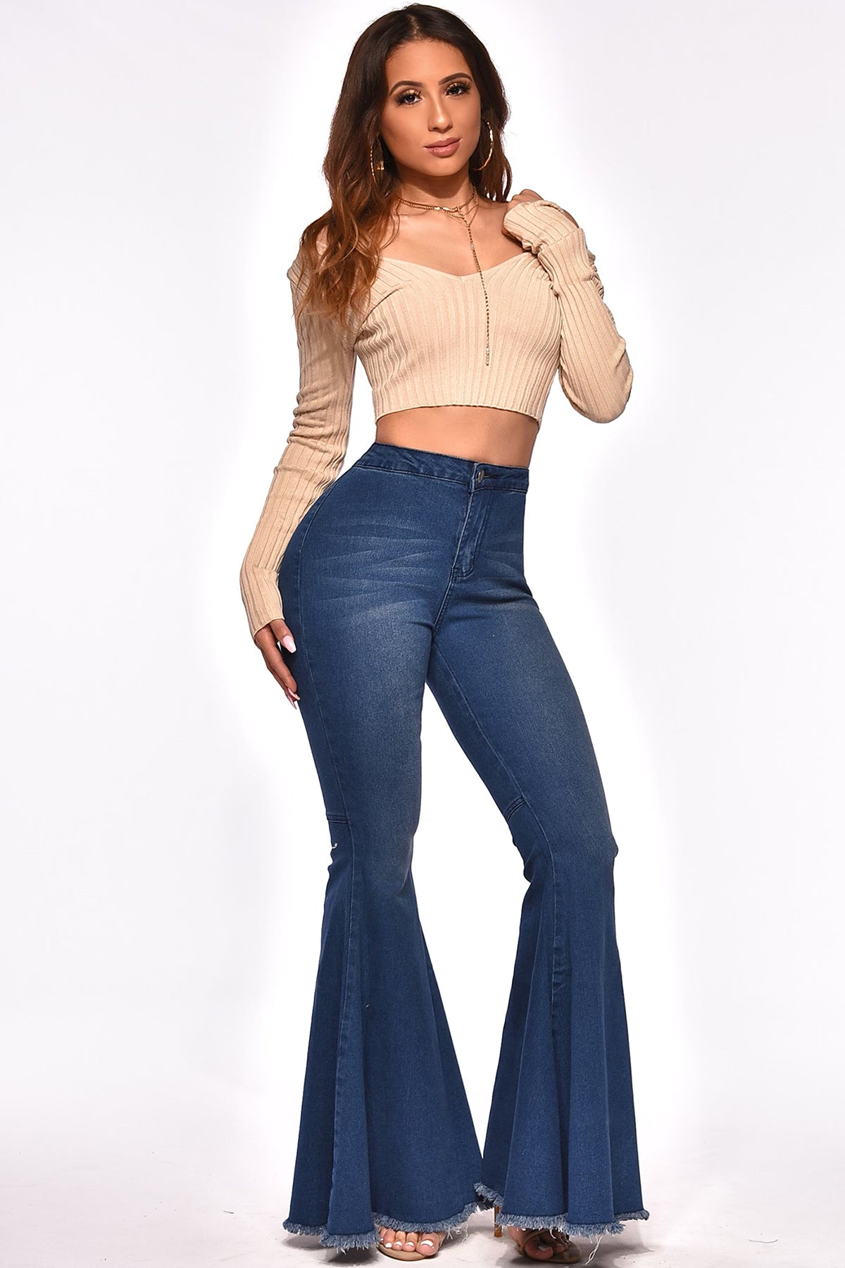 DARE TO FLARE HIGH-WAIST DENIM