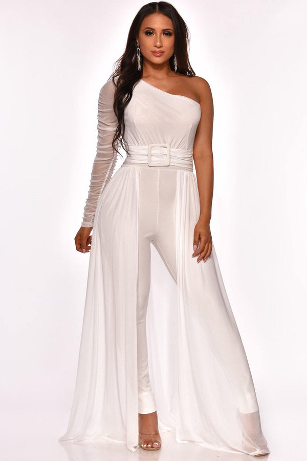 NOT TOO MESHY JUMPSUIT (White)