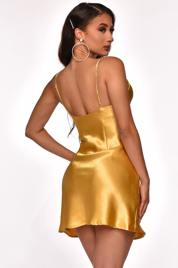LAUREN SATIN DRESS