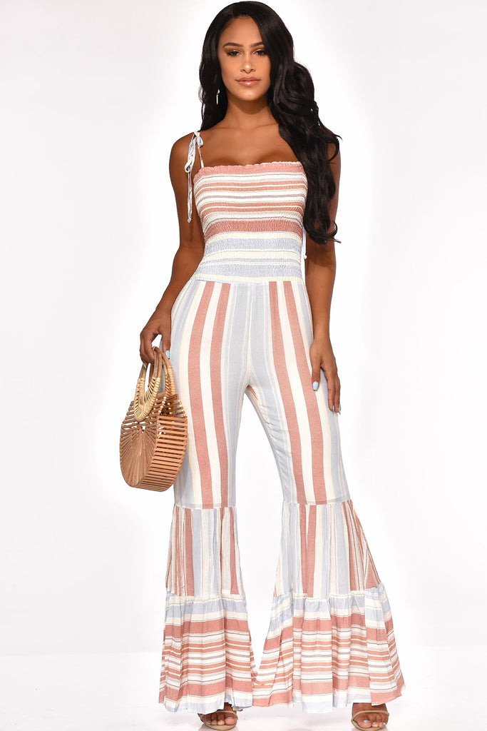 STRIPE ME DOWN JUMPSUIT