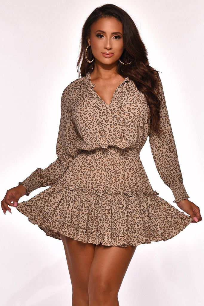 FELINE FEELING MINI DRESS