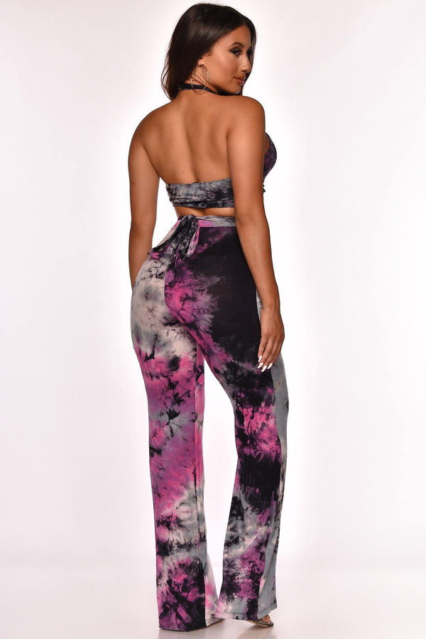ART WORK WRAP PANT SET