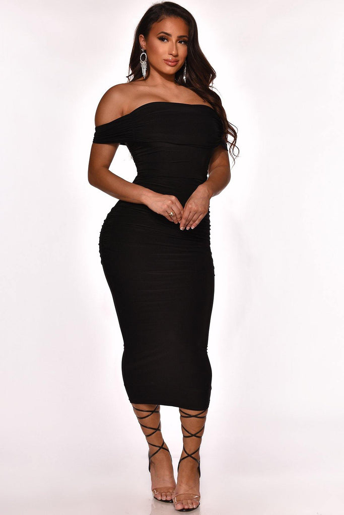 NEXT LEVEL MIDI DRESS - The Boutique
