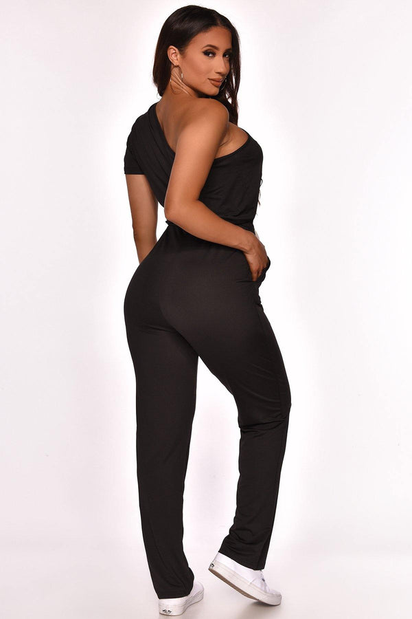 GOT YOUR LOVE ONE SHOULDER JUMPSUIT