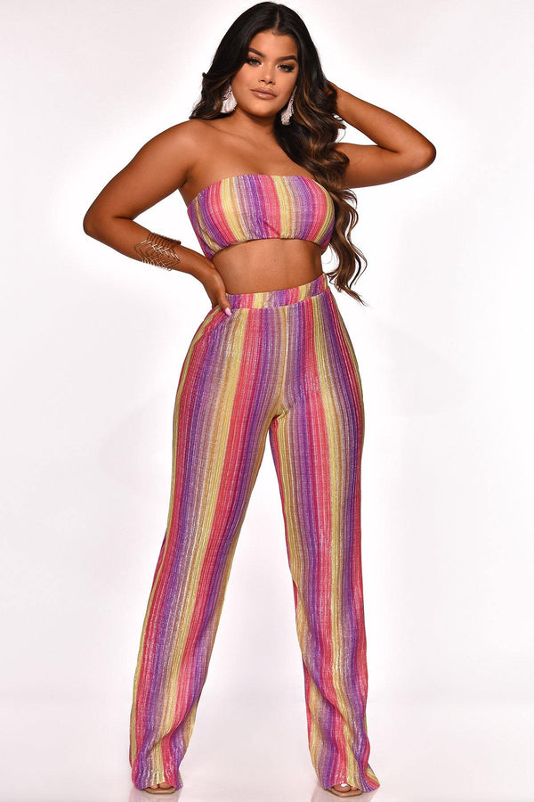 BRIGHTEN THE NIGHT PANT SET