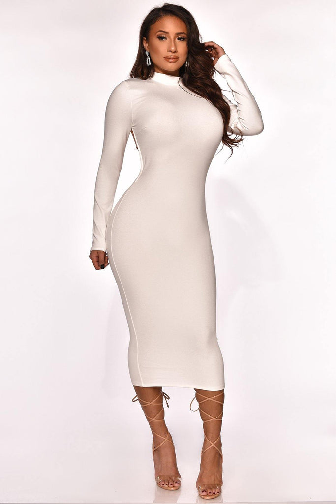 CHECK ME OUT MIDI DRESS