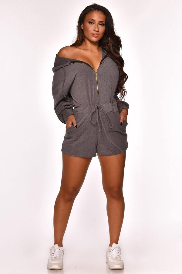 BETTER THAN EVER HOODIE ROMPER