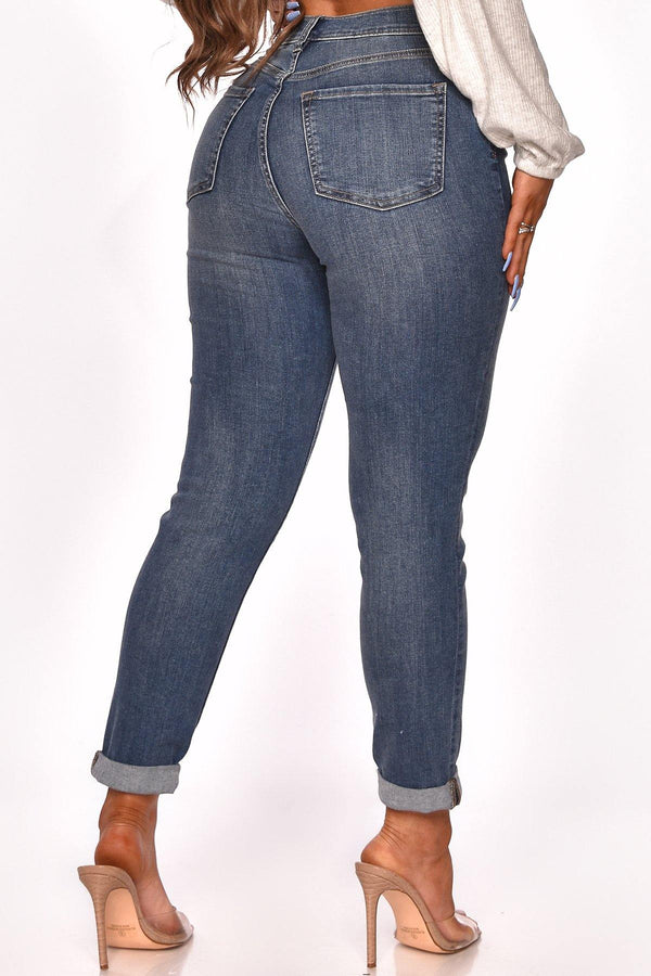 STEPHANIE HIGH WAIST MOM JEANS