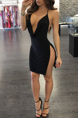 KENNY HIGH SLIT DRESS