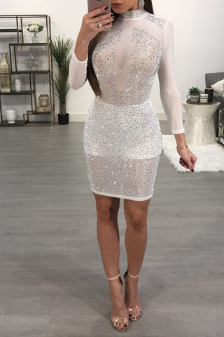 STEFY RHINESTONE DRESS