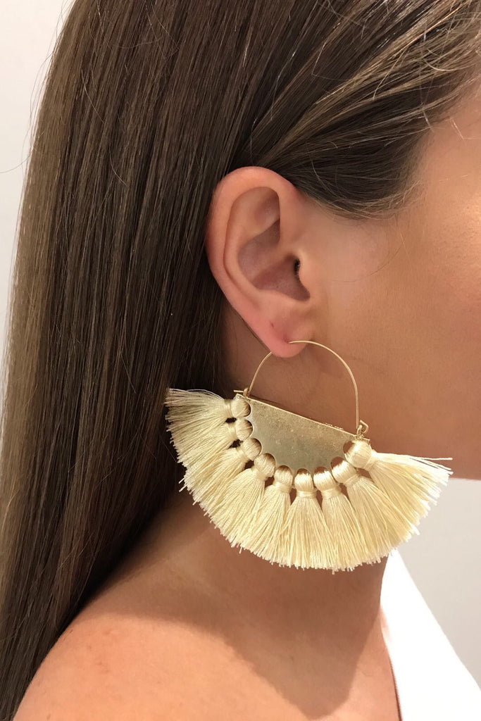 MIMA FRINGE EARRINGS