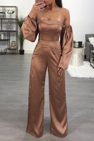 LINDA SATIN JUMPSUIT