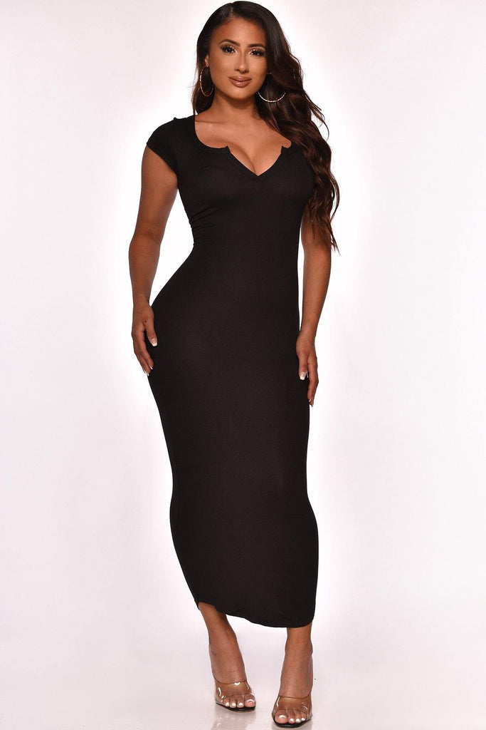 KEEP IT CUTE MIDI DRESS BLACK