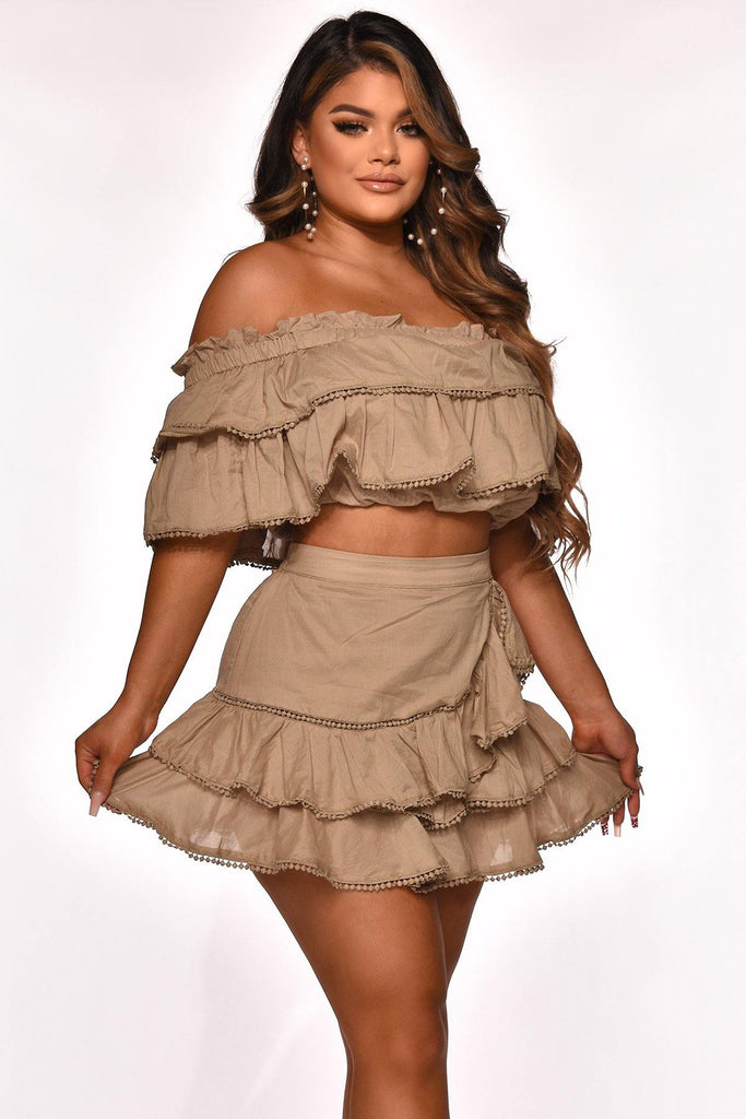 LOOKING FOR YOU SKIRT SET  OLIVE - The Boutique