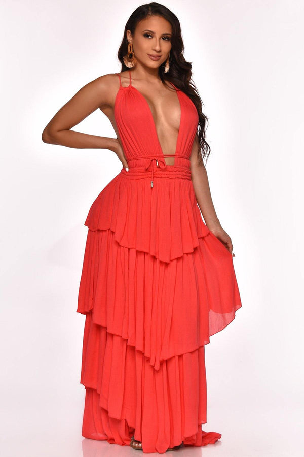 KAILEY RUFFLE DRESS