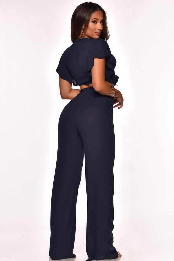 DREAM CITY PANT SET NAVY