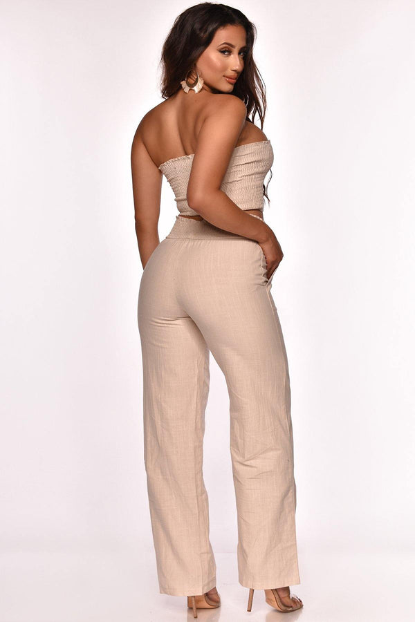 SOUNDS ABOUT RIGHT PANT SET BEIGE