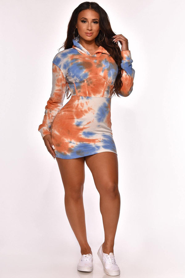 OPEN MIND TIE DYE MINI DRESS