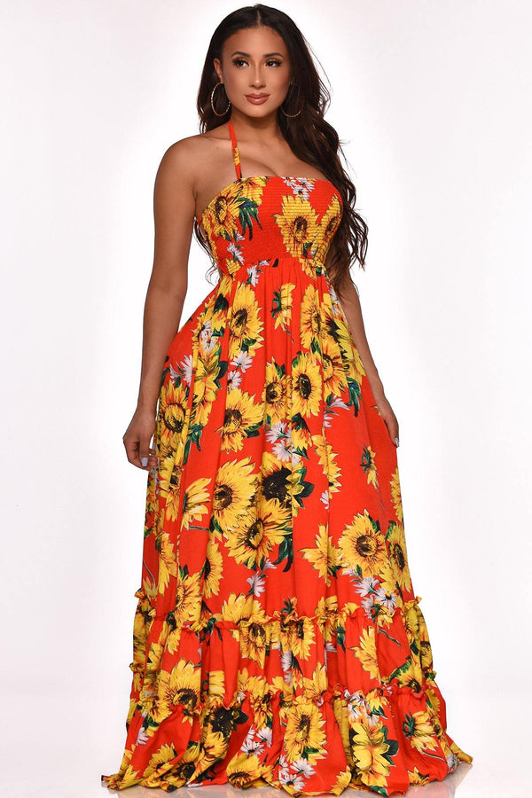 PLANT BUY YOUR LOVE MAXI DRESS
