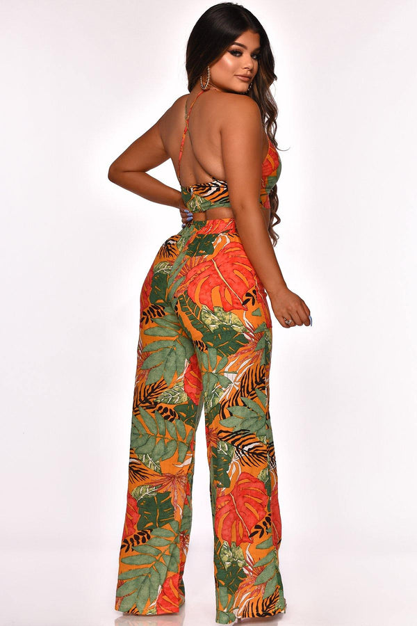 PRINT OF LOVE PANT SET