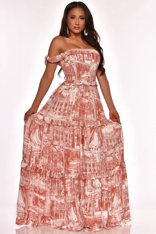 QUEEN OF BRUNCH MAXI DRESS PINK