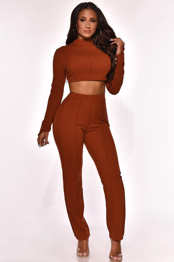 CAUGHT IN A MAZE PANT SET