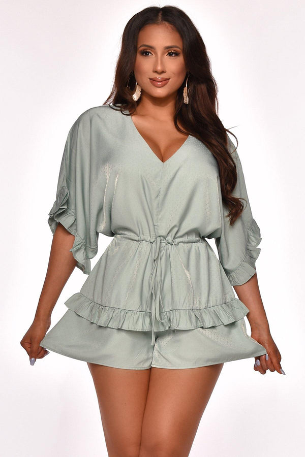 IN FOR THE FRILLS ROMPER